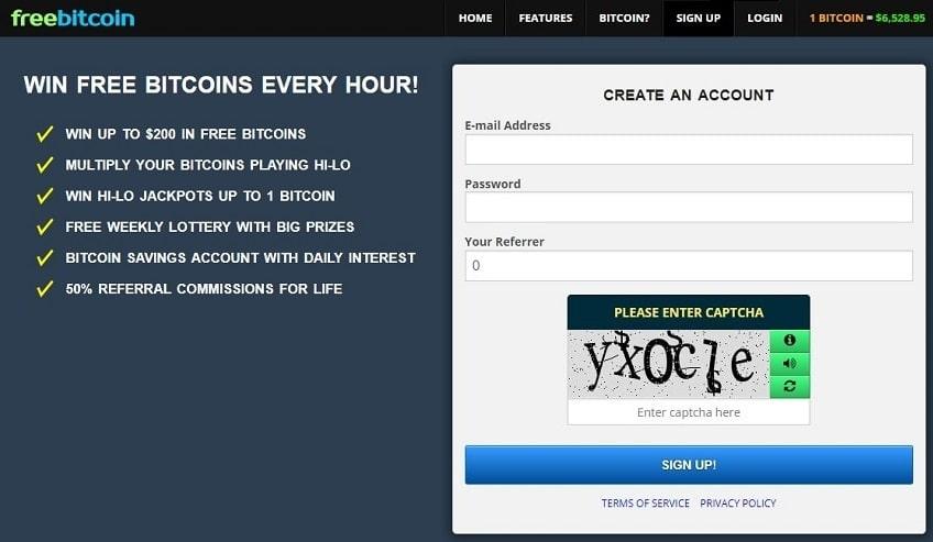 Как регистрироваться на сайте freebitcoin