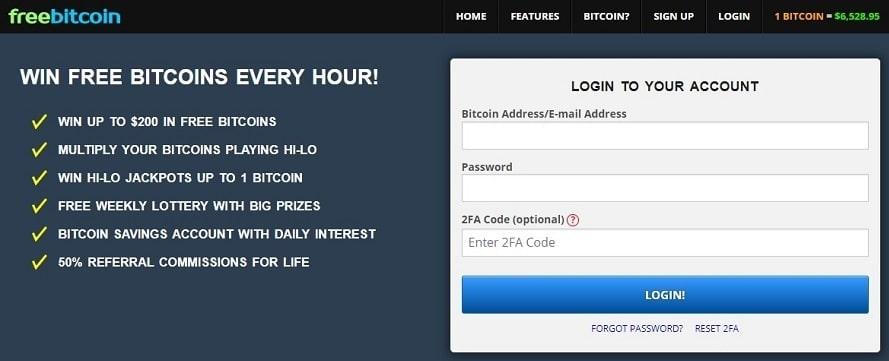 Вход на сайт Freebitcoin