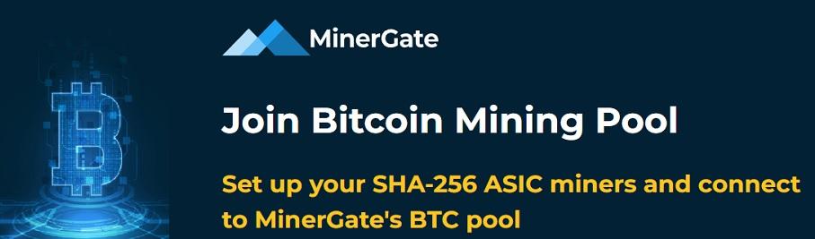 MinerGate Bitcoin BTC mining pool