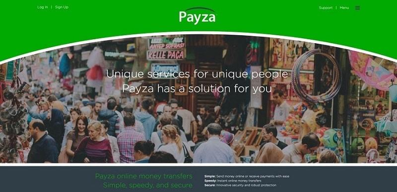 Сайт Payza