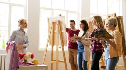 Подработать на занятиях живописи