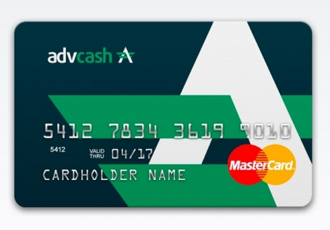 Advanced Cash  Visa и Mastercard карты