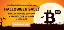 10-летие Биткойн и скидки от Genesis Mining к Хеллоуину
